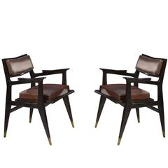 Raphael Raffel Pair of Stamped Chairs, 1955-1960