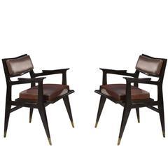 Raphael Raffel Pair of Stamped Chairs, 1955-1960