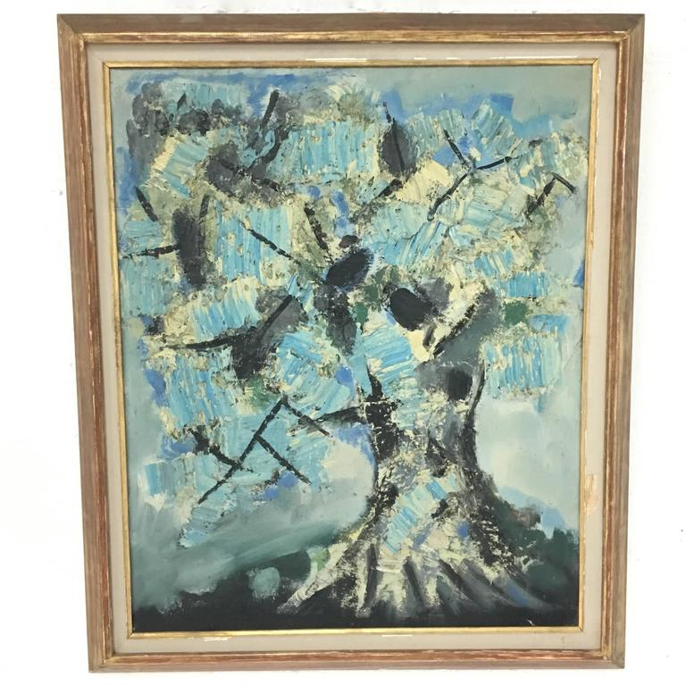Mid-Century Signed Painting by Pierre Bosco