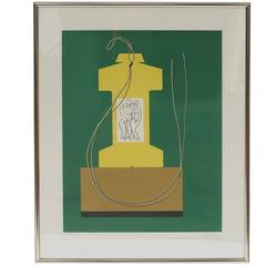 Man Ray Low Edition Signed Color Lithograph