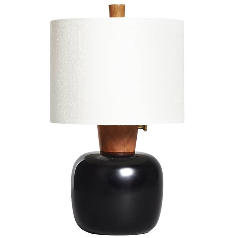 Marty I Ebonized Maple and Cherry Bedside Lamp