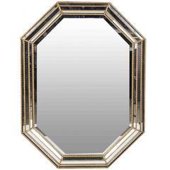 Large La Barge Giltwood Octagonal Mirror