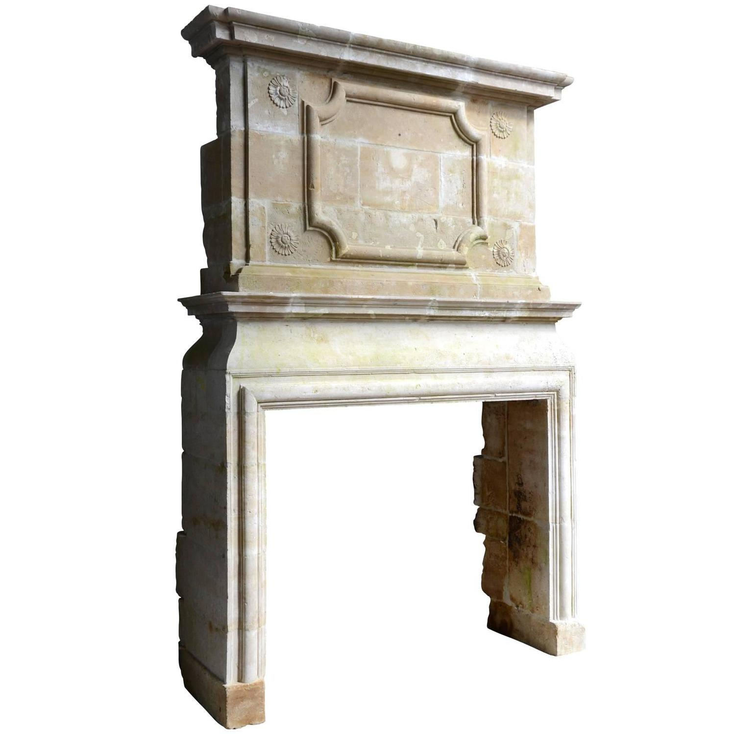 Louis 13 Stone Fireplace 17th Century For Sale At 1stdibs