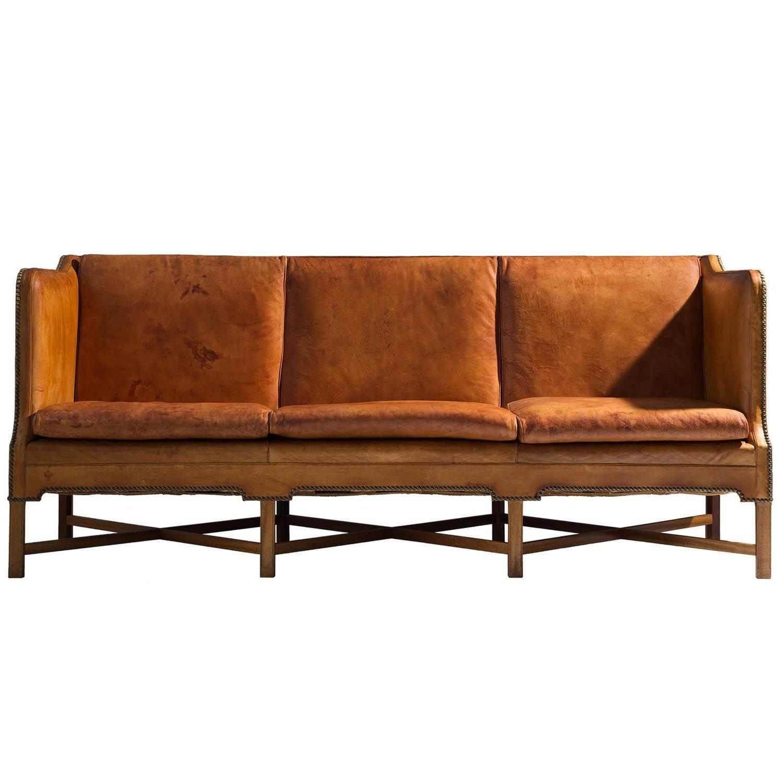 kaare klint sofa model 4118 in mahogany and original. Black Bedroom Furniture Sets. Home Design Ideas