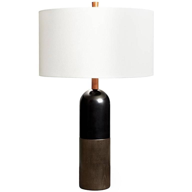 Tusten I, Dyed Ash and Ebonized Maple Table Lamp