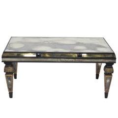 Empire Style Ebonized and Églomiséd Coffee Table