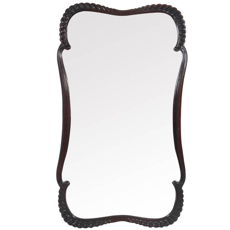 Elegant Large Scale 1940s Scalloped Mirror