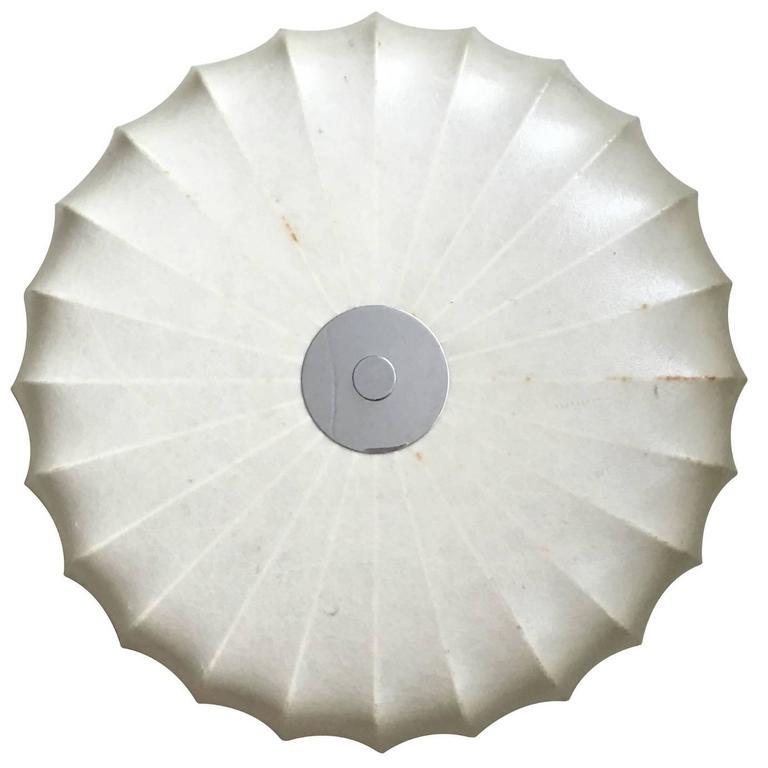 Achille Castiglioni, Italian Flush Cocoon Ceiling Light, 1960s