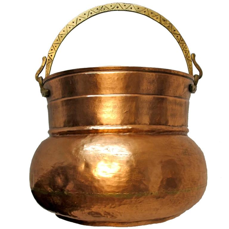 Large 19th Century Copper Pot Bucket