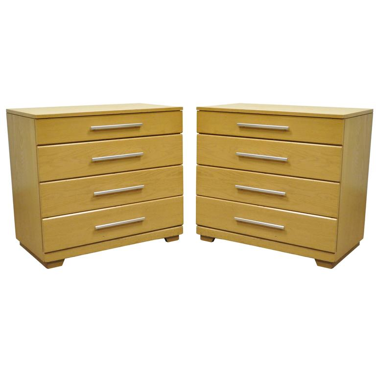 Pair Of Oak Mid Century Modern Raymond Loewy Mengel Bachelor Chests Or Dresse