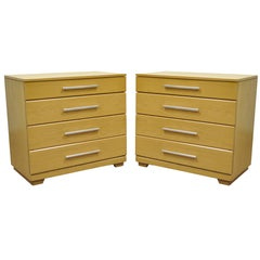Pair Oak Mid-Century Modern Raymond Loewy Mengel Bachelor Chest Commode Dressers