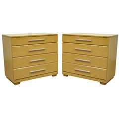 Pair of Oak Mid-Century Modern Raymond Loewy Mengel Bachelor Chests or Dressers