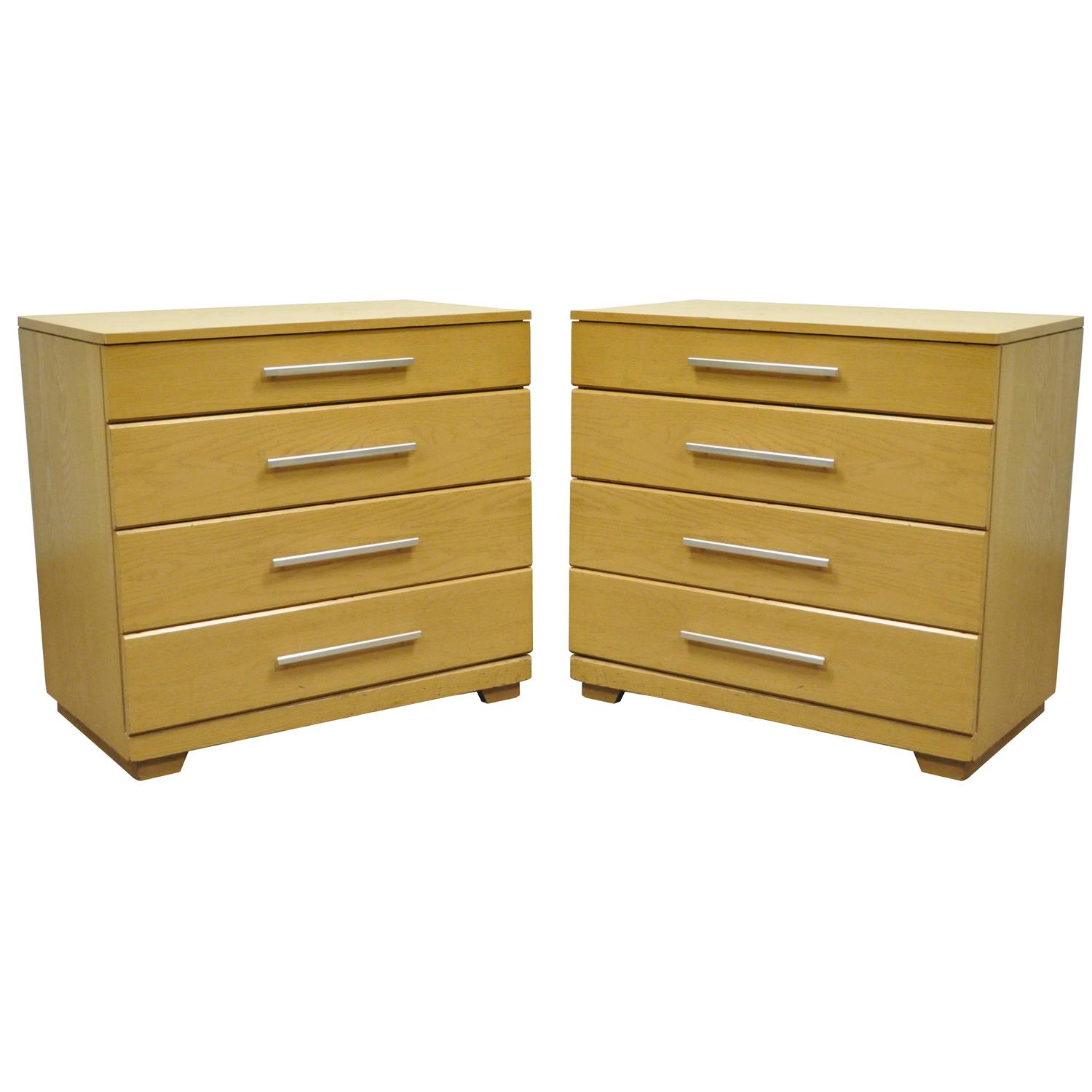 Pair Of Oak Mid Century Modern Raymond Loewy Mengel Bachelor Chests Or  Dressers For Sale At 1stdibs