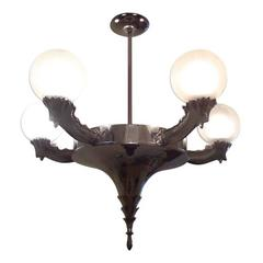 Austrian Secessionist Chandelier