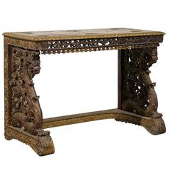 Wonderful William IV circa 1830 Anglo-Indian Serving Table