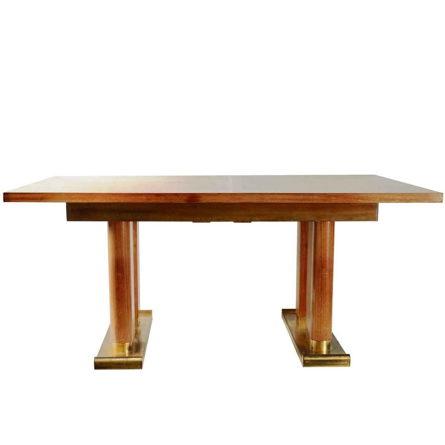 Dining room table by de coene belgium 1940s gilded for 7 foot dining room table