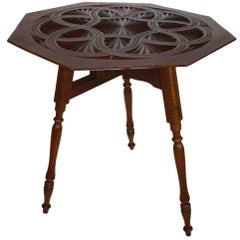 Carved Mahogany Tilt Top Table, circa 1915