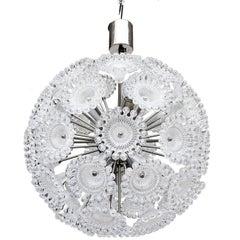 Lucite Flowers Sputnik Chandelier Dandelion Clock, 1960s