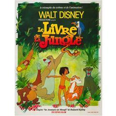 Jungle Book Original French Film Poster, 1970s