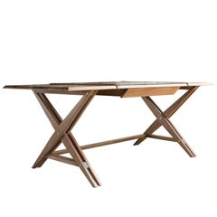 Octavio Desk Type 1 in Limed Walnut - handcrafted by Richard Wrightman Design