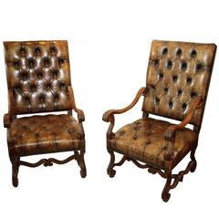 Pair of 19th Century Baroque Armchairs