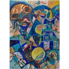 """Abstract Art Painting """"Team Zissou"""""""