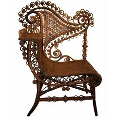 Haywood Wicker Photo Chair