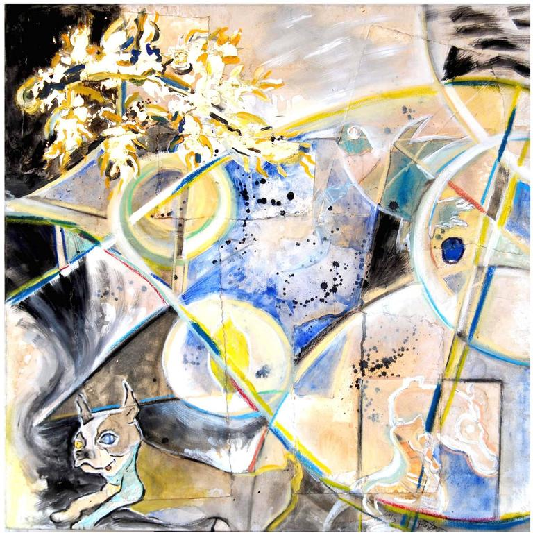Abstract Art Painting Old Dog, New Tricks