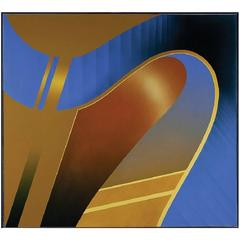 Monumental Acrylic on Canvas Painting by James R. Templer