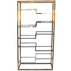 Strut shelving system modern wood wall shelf with black brackets bookcase f - Etagere 8 cases ikea ...