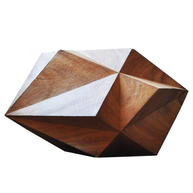 Wood Interlocking Cube Sculpture by Aleph Geddis