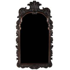Antique Carved Mahogany Framed Mirror, circa 1880