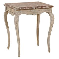 French Early 19th Century Louis XV Style Side Table with Red Marble Top