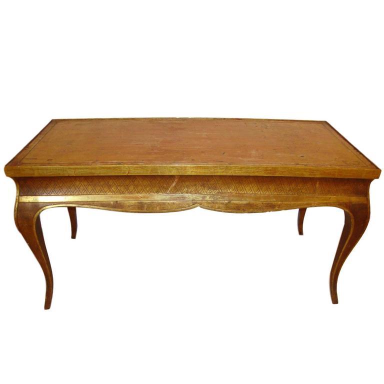 Hollywood Regency Style Jansen Gilt Gold Coffee Table