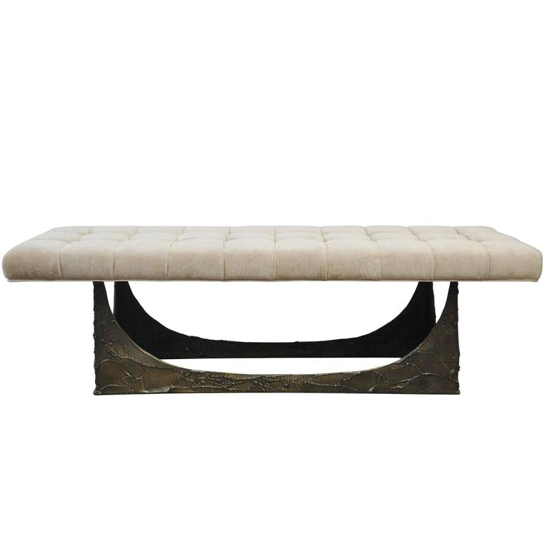 Paul Evans Sculpted Bronze Bench 1