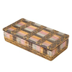 Bitossi Raymor Ceramic Seta Gold Magenta Lidded Box Londi Signed, Italy, 1960s