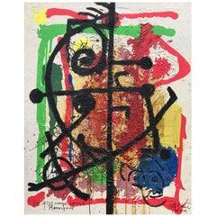 """Modern """"Soleil Rouge"""" Oil Painting By Peter Keil"""