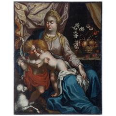 Mary with Jesus and John the Baptist