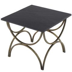 Decorative Slate Top Square Occasional Side Table