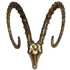 Beautiful Sculpted Mid-Century Gazelle Horns, France, 1970s