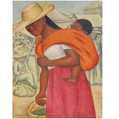 "Jesus Ortiz Tajonar, ""Mother and Child at Market"""