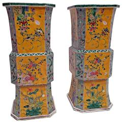 Large Pair of 19th Century Japanese Meiji Vases