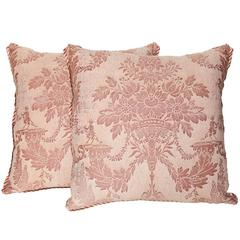 A Pair of Fortuny Fabric Cushions in the Boucher Pattern