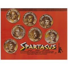 Spartacus, British Movie Poster