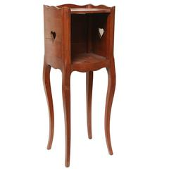 Charming Country French Walnut Side Table