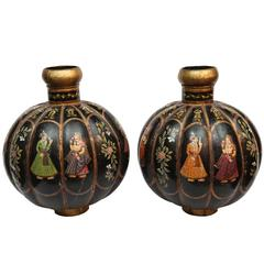 Pair of Superb Indian 19th Century Tole Vases