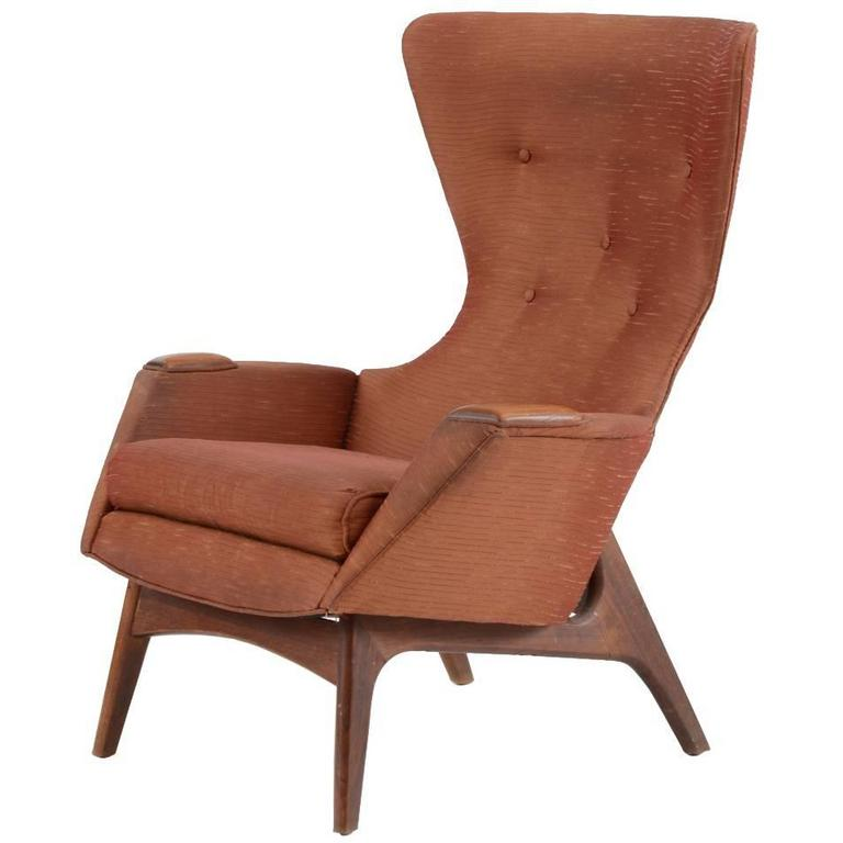 Adrian Pearsall Wing Back Lounge Chair For Craft