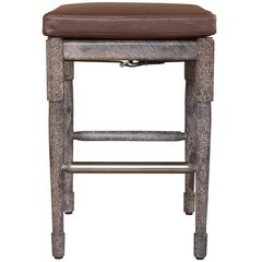 Chatwin Bar or Counter Stool in Marrakech Stained and Limed Walnut