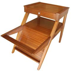 Attirant Magazine Side Table With Drawer In Mahogany By John Keal For Brown Saltman,  CA