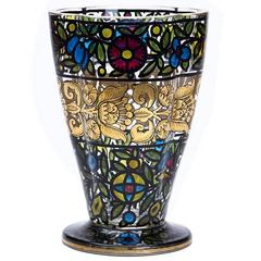 Bohemian Glass Vase Julius Mulhaus & Co Haida, circa 1915